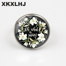 XKXLHJ New Bible Scripture Ring Glass Dome Quotes Jewelry Christian Faith Inspirational Gifts