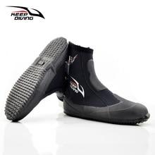 Botas de neoprene para mergulho, sapatos com 5mm para mergulho vulcanização de inverno e à prova de frio
