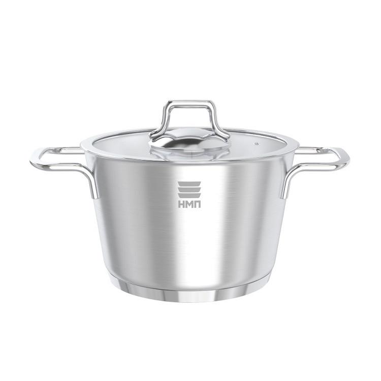 Кастрюля Нева металл посуда, АЛМАЗ, 2,4 л кастрюля жаровня нева металл посуда горячий шоколад с крышкой сковородой 3 5 л