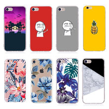 Soft Silicon Case For iPhone 6 6s Case Cute Cartoon Fashion Coque Phone Back Cover For Apple iPhone 7 Plus 8 Plus SE 5 5S X 10(China)