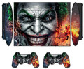 Joker Man Vinyl Skin Sticker for Sony PS3 Super Slim 4000 and 2 Controller Protector Skins Stickers For PS3 Slim 4000 Accessory