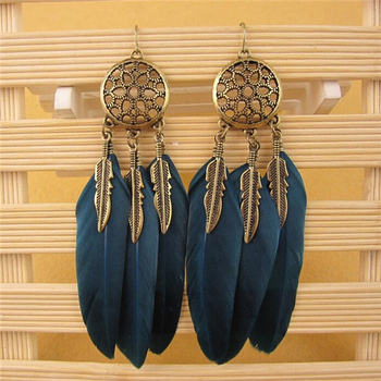Women's Dream Catcher Earrings Earrings Jewelry Women Jewelry Metal Color: blue