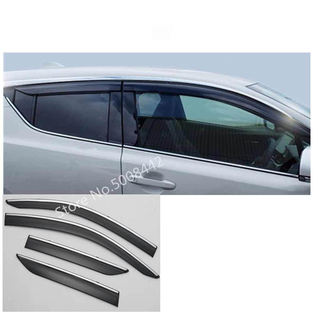 For Toyota C HR CHR 2017 2018 2019 car cover plastic Window glass Wind Visor Rain/Sun Guard Vent 4pcs-in Awnings & Shelters from Automobiles & Motorcycles
