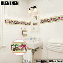 KLG-012 Self-adhesive Wallpaper Decor Wall Sticker Waistline Stickers PVC  Waist Line Bathroom kitchen Tile wallpaper