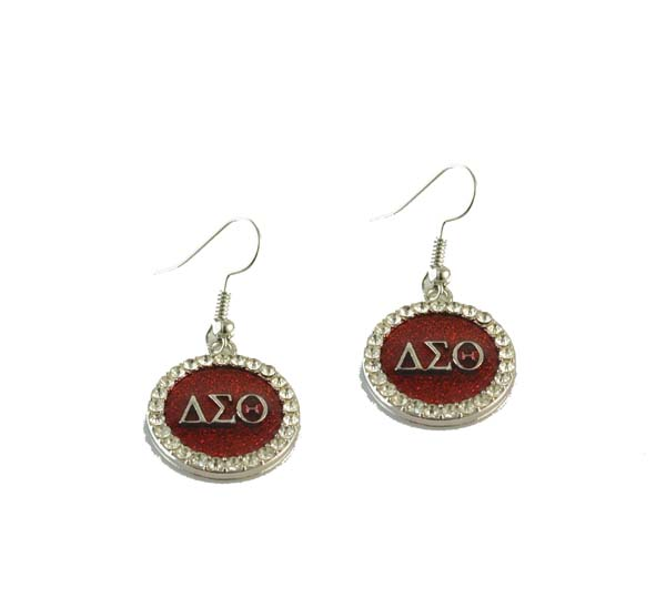 Delta Sigma Theta Earrings: Delta Sigma Theta Earring DST Circle Gold Earring 1pair