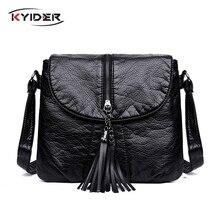 KYIDER New Designer Shoulder Bag Soft Leather Handbag Women Messenger Bags Crossbody Fashion Female Flap Bolsa