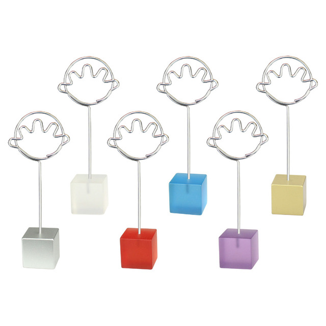 Color cube stand hand wire desk card note picture photo memo clip ...