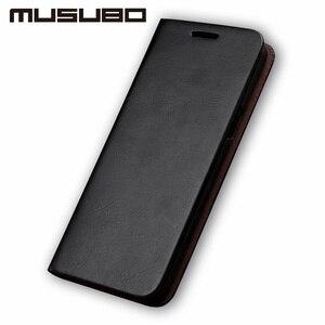 Image 4 - Musubo lüks deri kılıf kapak Samsung Galaxy S20 S10 S9 artı S8 artı S7 kenar not 10 9 muhafaza flip cüzdan kart yuvası çapa
