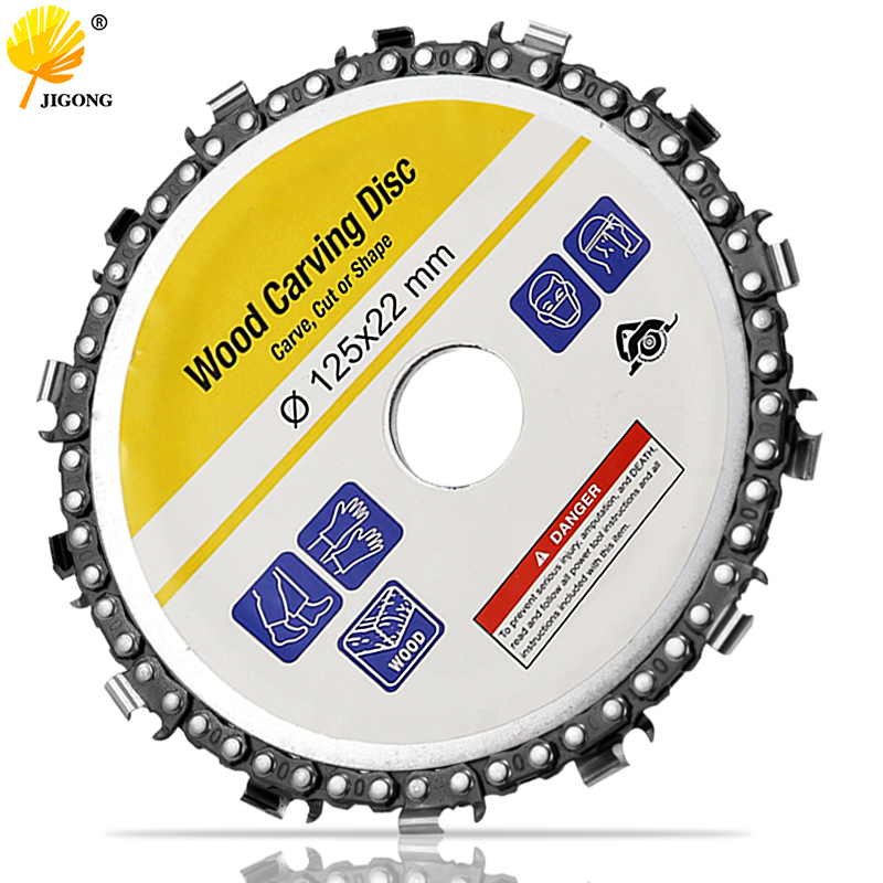 JIGONG 5 Inch Disc 14 Tooth Fine Abrasive Cut Chain For 125x22mm Angle Grinder