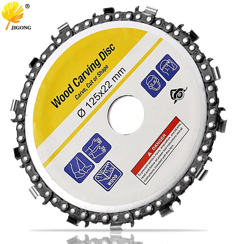 Cadena de corte abrasivo fino de 14 dientes de disco y cadena de molinillo de 5 pulgadas para amoladora de ángulo de 125x22mm