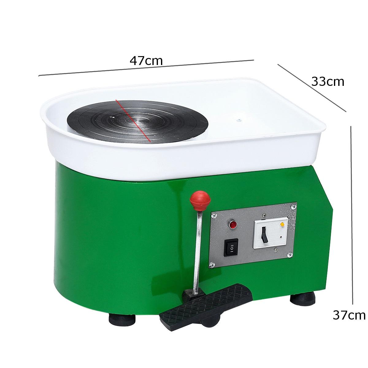 220 V 250 W 250mm tournant la roue de poterie électrique en céramique Machine en céramique argile potier Kit pour céramique de travail en céramique - 5
