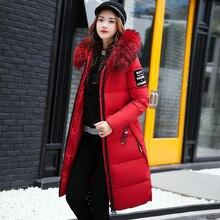 2018 Winter Coat Women Plus Size 5XL Raccoon Fur Hooded Fashion Warm Women's Down Jacket  Biological-Down Women's Parkas MF027