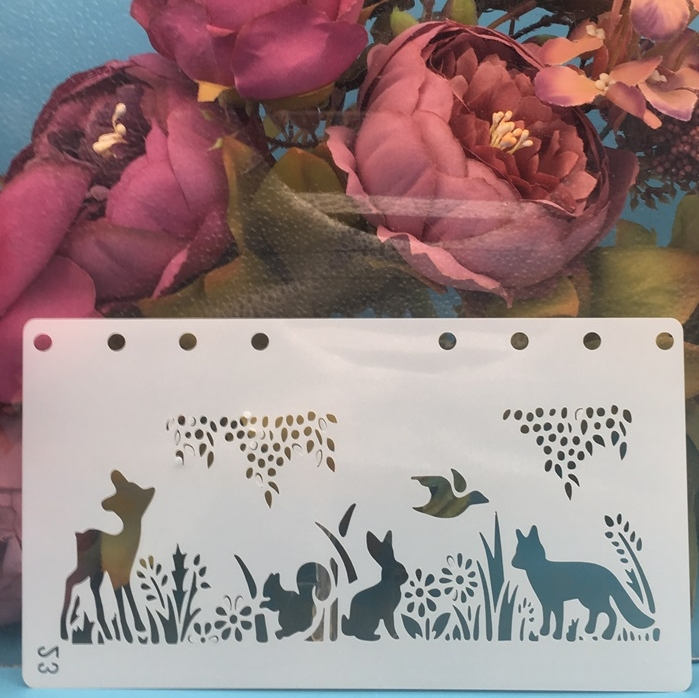 A6 Forrest Animals Fox DIY Craft Layering Stencils Painting Scrapbooking Stamping Embossing Album Paper Card Template