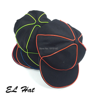 Wholesale 10 pcs EL Wire hat LED Neon black hat hip hop hat For Halloween Party And Wedding Decor Cosplay Series Caps