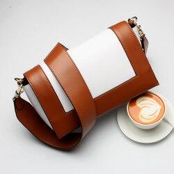 Bolso de cuero genuino para mujer, bolsos de lujo VL rosa y gris, bandolera mensajero pequeña, bolsos cruzados con paneles