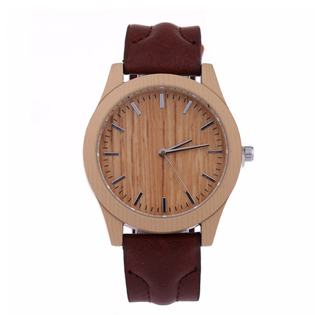 Fashion Quartz Watch Men Women Brand Watches Luxury Imitation   Wooden Wristwatch Vintage Leather Wood Color Male Watch LZ2053 ultra luxury 2 3 5 modes german motor watch winder white color wooden black pu leater inside automatic watch winder