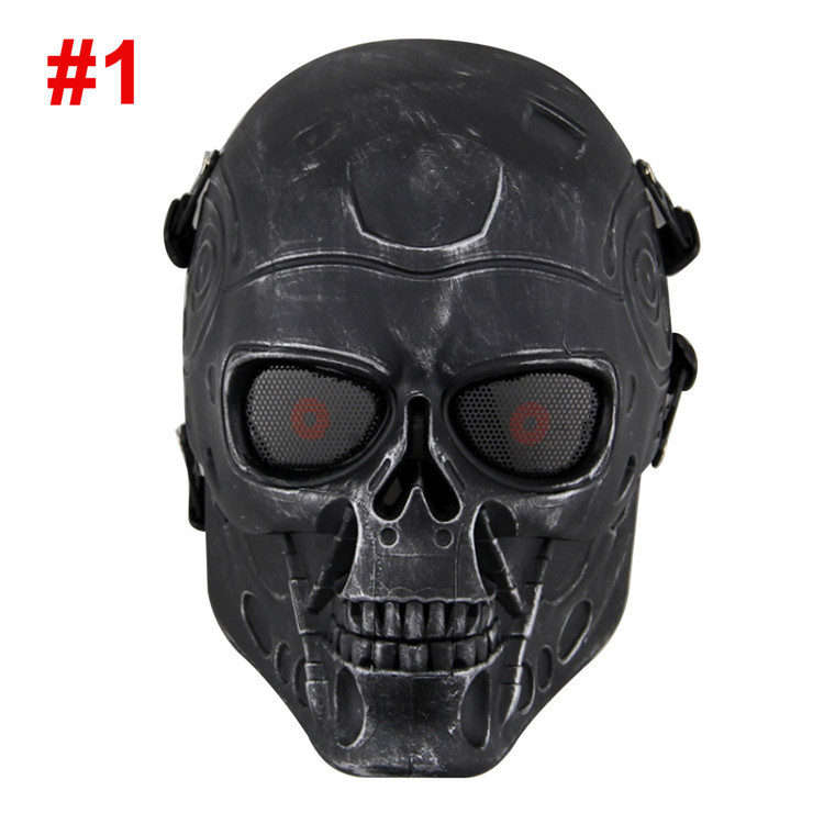 DC-10 Terminator Masks ABS Plastic Full Face Airsoft Paintball CS Mask Wargame Tactical Mask Field Game Cosplay Movie Prop