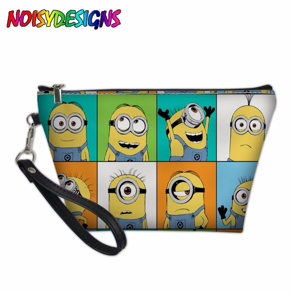 52bc6b14b852 US $7.2 40% OFF|Travel Cosmetic Bag Multifunction Women Toiletries  Organizer Minion Rush Print Makeup Bags Storage Make Up Case Despicable  ME2-in ...