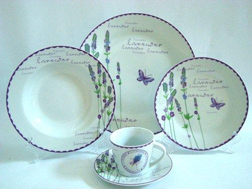 porcelain 20pcs dinner set lavender flower design & porcelain 20pcs dinner set lavender flower design-in Dinnerware Sets ...