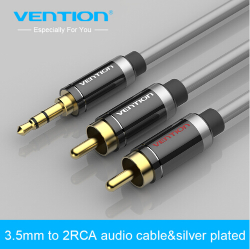 Vention HIFI 2 RCA Jack Plug Stereo Aux Cable 3.5mm Jack male to 2 RCA male Audio Cable for Home Theater DVD VCD Headphones vention 3 5mm rca audio cable jack to 2 rca aux cable for edifer home theater dvd vcd iphone headphones hifi rca cable1m 2m 3m