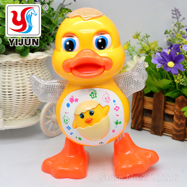 Electric Toys & Interactive Swing Dancing Duck Kids Learning Educational Toy With Light And Music Children's Gift