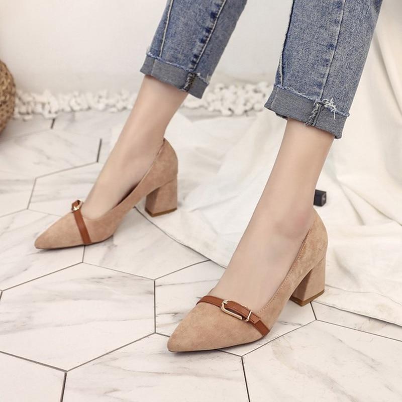 Talons hauts coréens pointus de 9cm, bouche peu profonde de printemps avec de bonnes chaussures de travail, chaussures sexy de boîte de nuit, chaussures de mariage sauvages ( Couleur : Black 9cm , tai