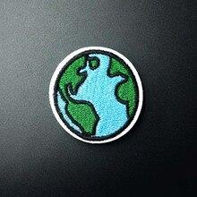 Земля(Размер: 4,0x4,2 см) тканевый патч-значок для украшения джинсовых курток, сумок, одежды, шитья, декоративной аппликации