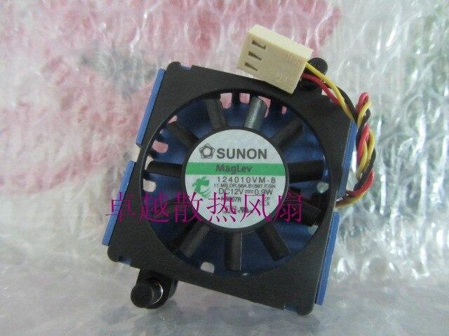 Livraison gratuite ventilateur de refroidissement d'origine SUNON 124010VM-8 DC12V 0.9 W