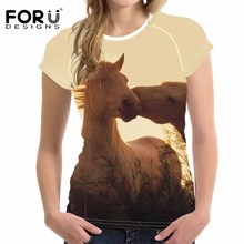 FORUDESIGNS Fashion t shirt Women T-shirt Spring Summer Female T Shirt Tops Femme Couple tshirts Cool Casual Street tee XL