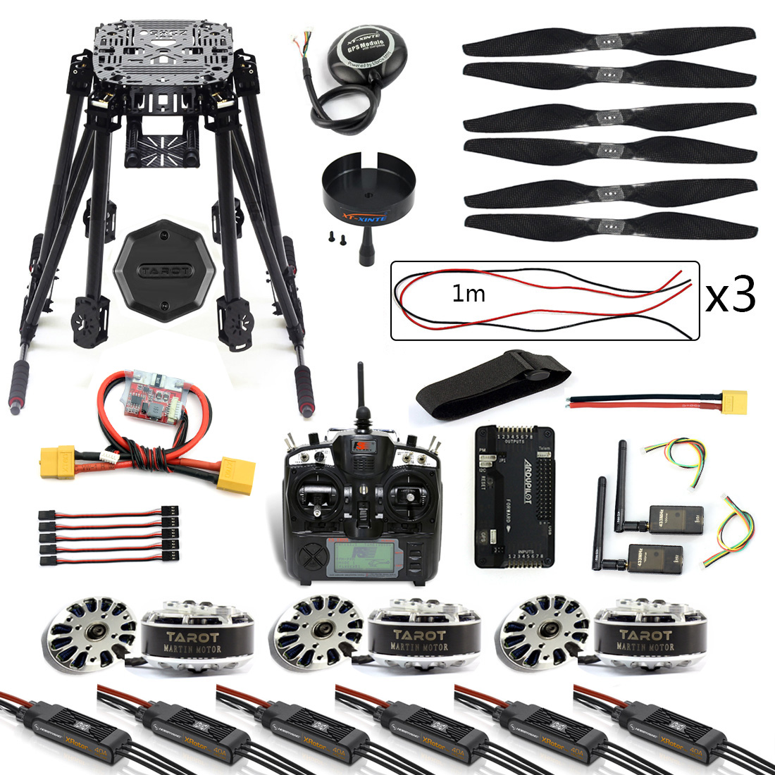 DIY 6-Axle ZD850 Frame Kit APM 2.8 Flight Controller M8N GPS 3DR MHz Telemetry Flysky TH9X TX Motor ESC RC Hexacopter F19833-C 3dr power module apm2 2 5 apm flight controller ardupilot mega apm2 6 f