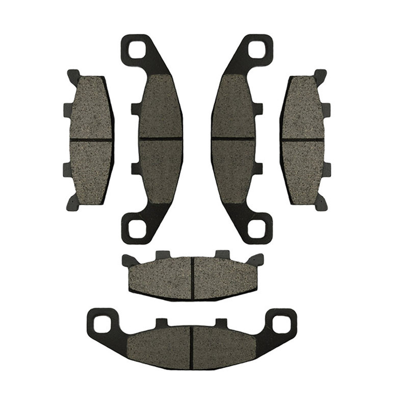 3 Pairs Motorcycle Brake Pads for KAWASAKI ZX 600 GPX 600 R ZR 750 C ZX 750 GPX 750 ZX 1000 B ZX10 motorcycle front rear brake pads for kawasaki gpx 600 r zx600 1988 1996 gpx 750 r zx750 1987 1989 zr750 1991 1995 zx100 zx10 p04