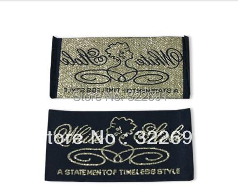 Высокое качество одежды аксессуары тканые основной этикетки для одежды и бесплатный образец