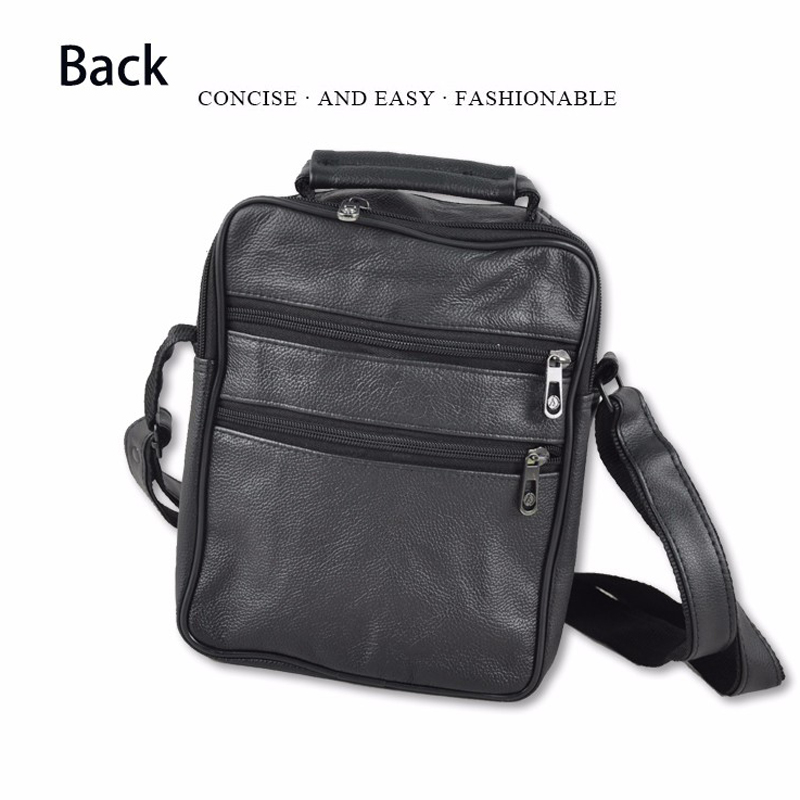 genuíno couro de sacolas de Men Shoulder Bag : Men Casual Bag