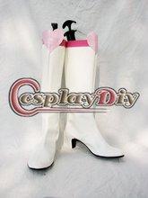 Сейлор Мун Тиби Косплей Обувь Взрослых Женщин девушки Повседневная Мода На Высоком Каблуке Белые Ботинки