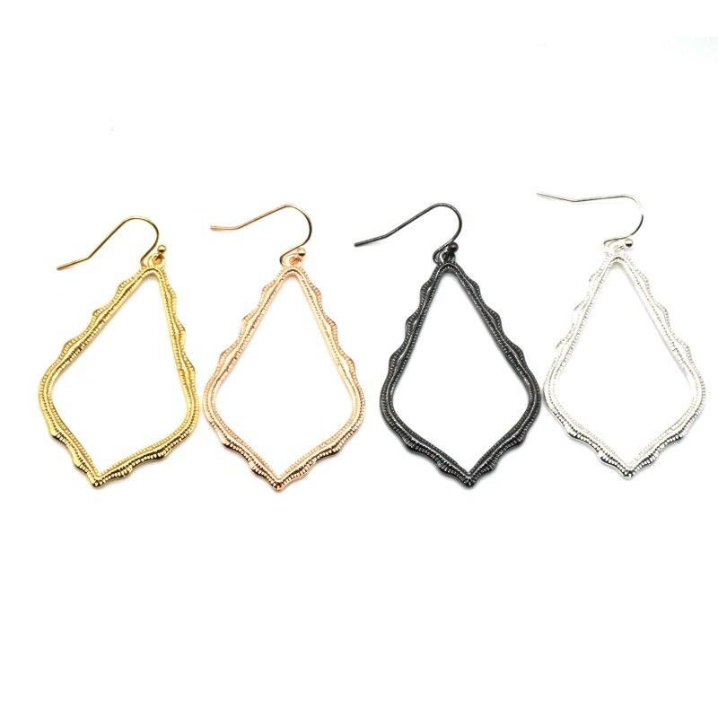 15 Colors Designer Frame Teardrop Earrings for Women Fashion Jewelry Painting Metal Water Drop Earrings Statement Earrings 18