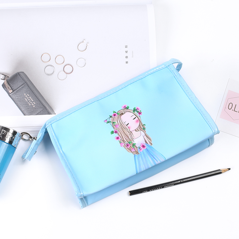 Korea Multi-functional Fashion Stationery Holder Bag Portable Large-capacity Stationery Storage Bag