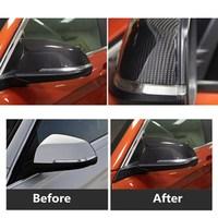 modify to M3 Carbon fiber mirror covers for BMW 1/2/3/4 Series X1 GT F20 F22F30 320Li 328 330i 2013 2016 exterior accessories