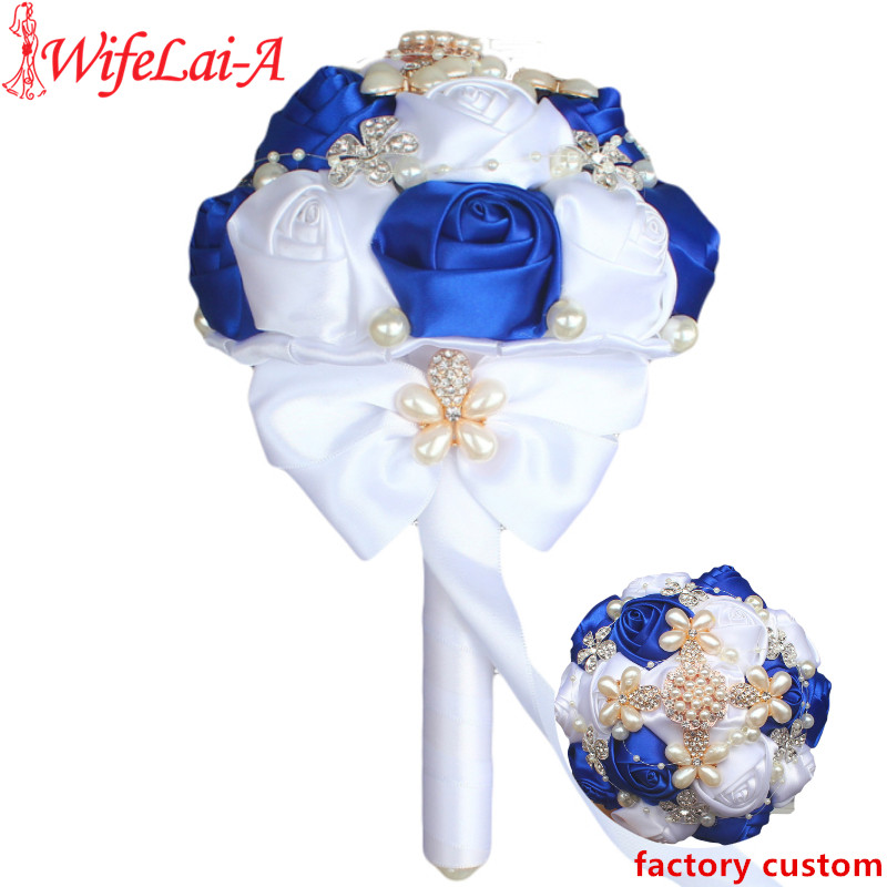Small Blue Flowers For Weddings: Exquisite Luxury Brooch Diamond Wedding Bouquet For