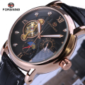 Men Watches Top Brand Luxury Automatic Watches 2017 Forsining Fashion Casual Tourbillon Designer Black Golden Case Watch Clock