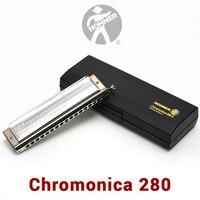 Hohner 280 Chromatic Harmonica Germany Original ABS Comb C Key Mouth Ogans Harmonica Chromatic 1664 Cromatica