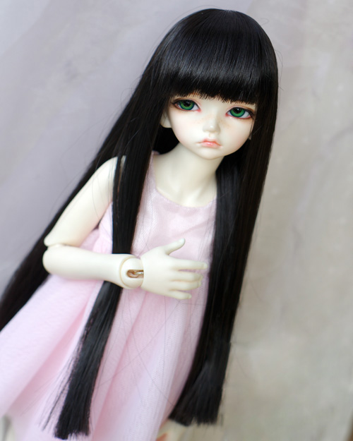 Doll Wigs High Temperature Wire Black Color Long Straight Hair With Bangs Available For 1/6 1/4 1/3 BJD SD Doll Accessories