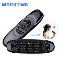 Беспроводная игровая клавиатура Fly для воздушной мыши, перезаряжаемая 2,4 ГГц, универсальный Смарт-пульт дистанционного управления для BYINTEK Android, проектор ПК