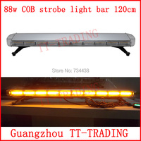 120cm Police strobe lights 88w led strobe lights Emergency Warning lights 48'' COB flash lamps RED BLUE WHITE AMBER DC12V