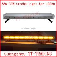 120cm Police strobe lights 88w led strobe lights Emergency Warning lights 48'' COB flash lamps RED BLUE WHITE AMBER DC12V