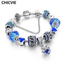 Подвески chicvie серебряные браслеты и для женщин ювелирные