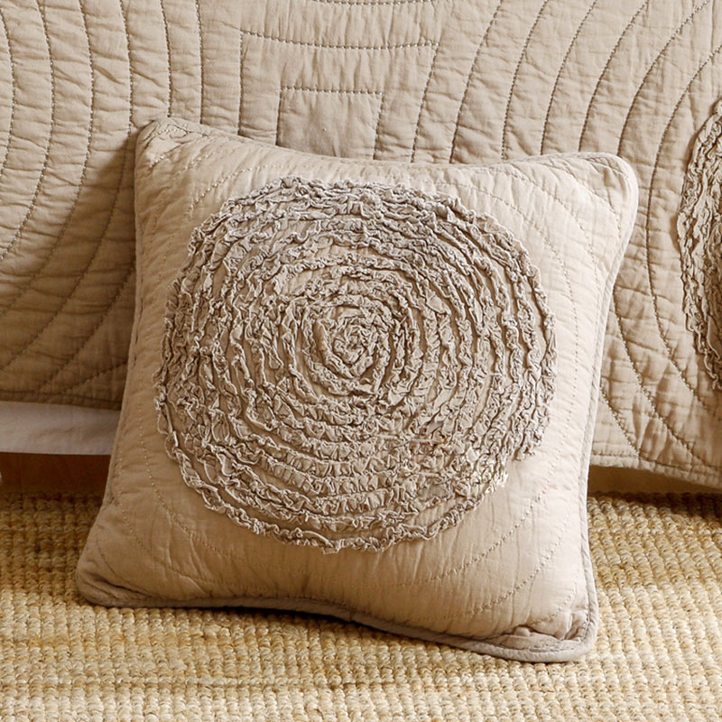 Креативная наволочка с аппликацей, вышитая 100% хлопок, стеганая подушка, Автомобильная подушка для дивана + сердечник, подарок, белое шампанс