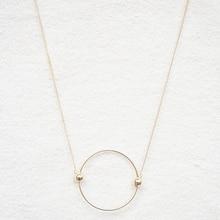 Contracted circle multicolor pendant decorative necklace Female long necklace matte black necklace