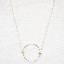 Decorative Necklace Pendant Multicolor Circle Contracted Matte Female