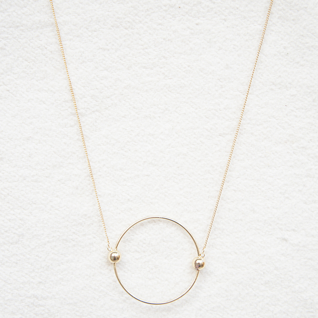 Contracted circle multicolor pendant decorative necklace Female long necklace ma
