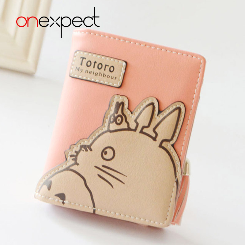 onexpect New Fashion Women Wallet Cartoon Small Leather Wallet Cute Totoro Tassels Zipper Clutch Coin Purse Card Holder anime my neighbour totoro cute card bag wallet holder zipper kawaii gray hanging
